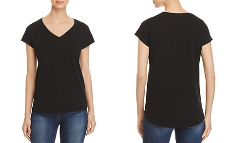 Eileen Fisher Organic Cotton V-Neck Tee - Bloomingdale's_2