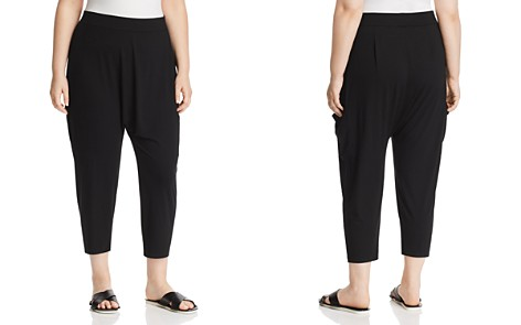 Eileen Fisher Plus Slouchy Cropped Pants - Bloomingdale's_2