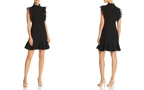 Rebecca Taylor Lace-Trimmed Crepe Dress - Bloomingdale's_2