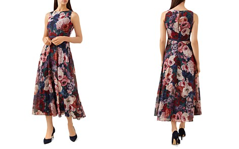 HOBBS LONDON Carly Floral Print Midi Dress - Bloomingdale's_2
