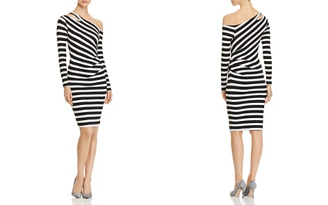 Three Dots Alpine Asymmetric-Shoulder Striped Dress - Bloomingdale's_2