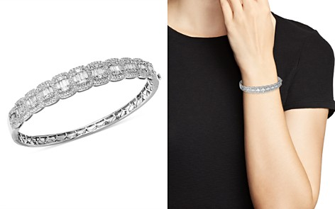 Bloomingdale's Diamond Round & Baguette Statement Bangle in 14K White Gold, 3.0 ct. t.w. - 100% Exclusive _2