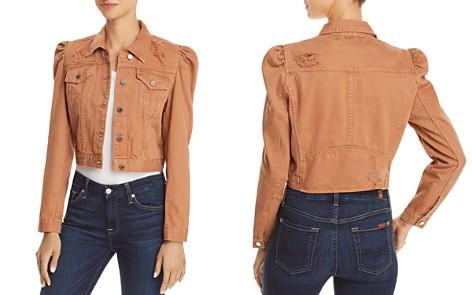 BLANKNYC Puff-Sleeve Distressed Cropped Denim Jacket - Bloomingdale's_2