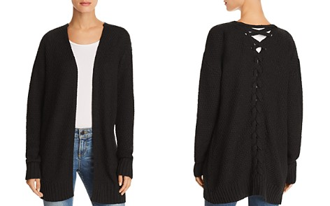 AQUA Lace-Up Back Cardigan - 100% Exclusive - Bloomingdale's_2
