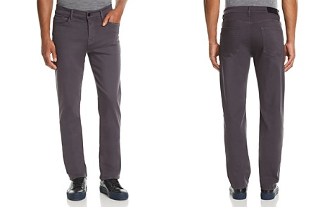 7 For All Mankind Luxe Sport Slimmy Straight Slim Fit Jeans in Gunmetal - Bloomingdale's_2