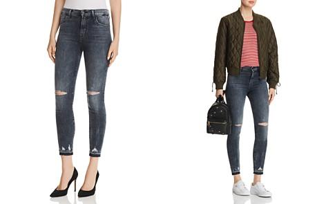 J Brand Alana High Rise Crop Skinny Jeans in Flurry - Bloomingdale's_2