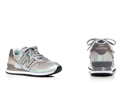 New Balance Women's 574 Dark Sheen Almond-Toe Lace Up Sneakers - Bloomingdale's_2