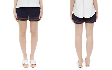 Ted Baker Colour By Numbers Sapphia Stitch-Detail Shorts - Bloomingdale's_2