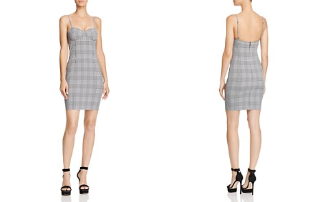 Olivaceous Plaid Bustier Mini Dress - 100% Exclusive - Bloomingdale's_2