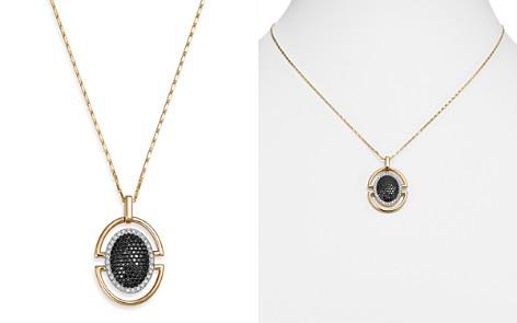 "Bloomingdale's Black Diamond & White Diamond Pendant Necklace in 14K Yellow Gold, 18"" - 100% Exclusive_2"