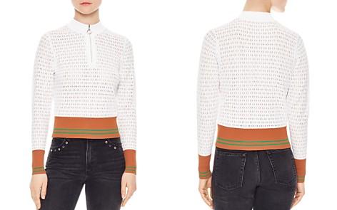 Sandro Infinity Openwork Stripe-Detail Sweater - Bloomingdale's_2