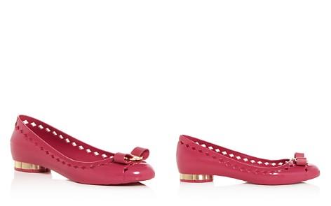 Salvatore Ferragamo Women's Jelly Vara Bow Cutout Flats - Bloomingdale's_2