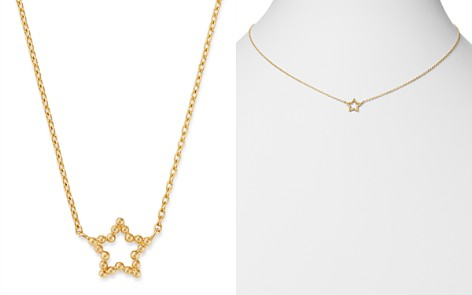 """Moon & Meadow 14K Yellow Gold Beaded Star Adjustable Necklace, 16""""-18"""" - 100% Exclusive - Bloomingdale's_2"""