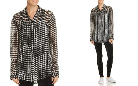 Theory Weekender Dot-Print Shirt - Bloomingdale's_2