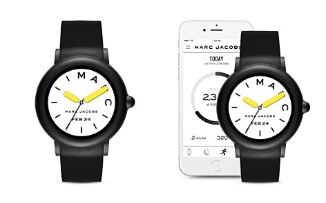 MARC JACOBS Riley Black Strap Touchscreen Watch, 44mm - Bloomingdale's_2