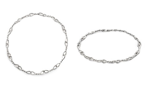David Yurman Continuance Short Linked Necklace with Diamonds - Bloomingdale's_2