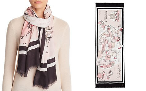 kate spade new york USA Map Oblong Scarf - Bloomingdale's_2