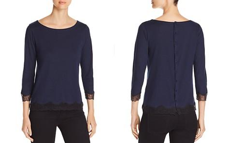 Majestic Filatures Button-Back Lace-Trim Top - Bloomingdale's_2