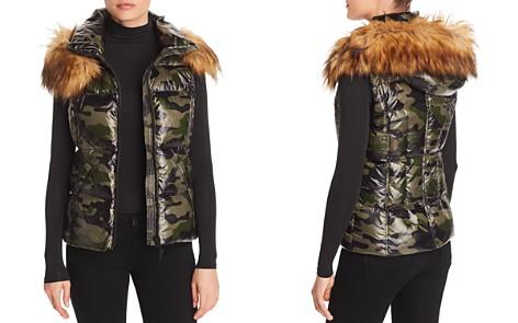AQUA Faux Fur-Trim Camo Puffer Vest - 100% Exclusive - Bloomingdale's_2