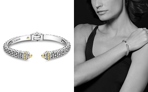 LAGOS 18K Yellow Gold & Sterling Silver Signature Caviar Cuff Bracelet - Bloomingdale's_2