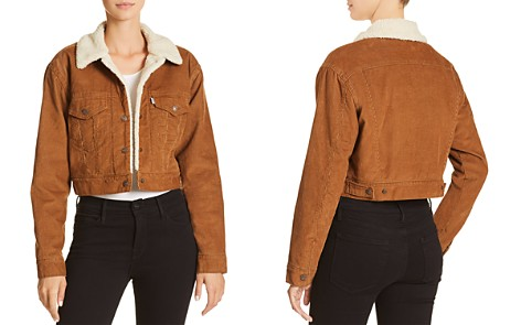 Levi's Corduroy Cropped Trucker Jacket - 100% Exclusive - Bloomingdale's_2
