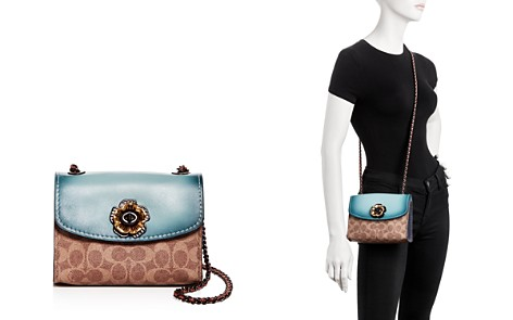 COACH Parker Coated Canvas & Leather Convertible Small Shoulder Bag - Bloomingdale's_2
