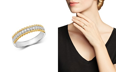 Bloomingdale's Diamond Band in 14K White Gold & 14K Yellow Gold, 0.25 ct. t.w. - 100% Exclusive_2