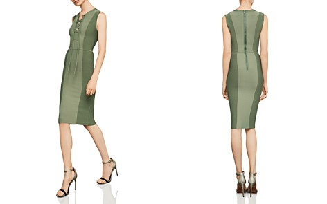 BCBGMAXAZRIA Safari Lace-Up Body-Con Dress - Bloomingdale's_2