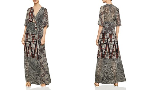 BCBGMAXAZRIA Patchwork Maxi Dress - Bloomingdale's_2