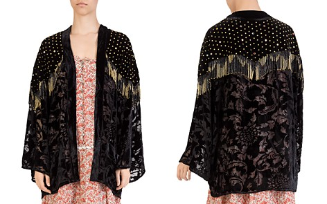 The Kooples Studded Fringed Kimono - Bloomingdale's_2