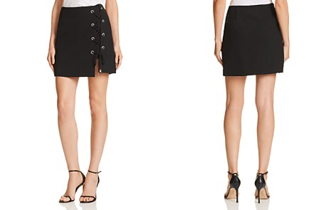 Rebecca Minkoff Stevia Lace-Up Detail Skirt - Bloomingdale's_2
