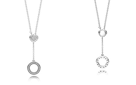 "PANDORA Sterling Silver & Cubic Zirconia Signature Necklace, 27.56"" - Bloomingdale's_2"
