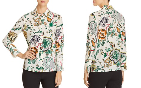 Tory Burch Erica Printed Silk Button-Down Top - Bloomingdale's_2