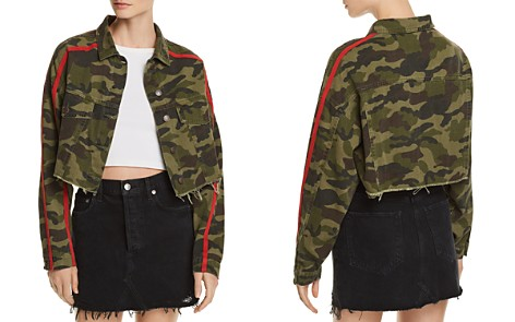 Sunset + Spring Camo Cropped Denim Jacket - 100% Exclusive - Bloomingdale's_2