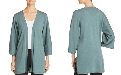 Eileen Fisher Petites Open Cashmere Cardigan - Bloomingdale's_2