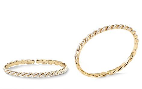 David Yurman Paveflex Bracelet in 18K Gold with Diamonds - Bloomingdale's_2