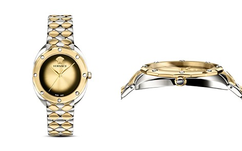 Versace Collection Shadov Two-Tone Bracelet Watch, 38mm - Bloomingdale's_2