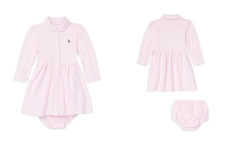 Ralph Lauren Girls' Striped Mesh Oxford Dress & Bloomers Set - Baby - Bloomingdale's_2