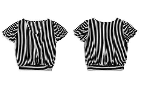 AQUA Girls' Striped Top, Big Kid - 100% Exclusive - Bloomingdale's_2