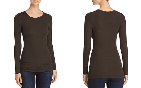 Three Dots Ribbed Crewneck Top - Bloomingdale's_2