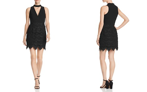 Aidan by Aidan Mattox Tiered Lace Choker Dress - 100% Exclusive - Bloomingdale's_2
