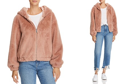 FRENCH CONNECTION Arabella Faux-Fur Hooded Bomber Jacket - Bloomingdale's_2