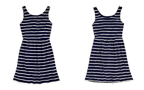 AQUA Girls' Scalloped Striped Shirt Dress, Big Kid - 100% Exclusive - Bloomingdale's_2
