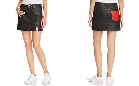 Current/Elliott The Leather Mini Skirt - Bloomingdale's_2