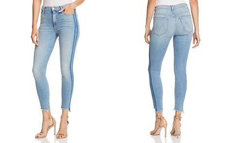 MOTHER Stunner Side-Stripe Ankle Step-Hem Fray Skinny Jeans in Light Kitty Racer - Bloomingdale's_2
