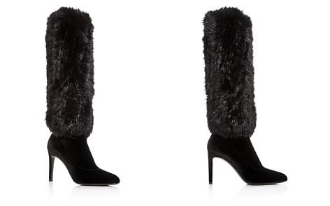 Giuseppe Zanotti Women's Rabbit Fur & Velvet Pointed Toe Boots - Bloomingdale's_2
