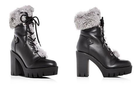 Giuseppe Zanotti Women's Gintonic Leather & Rabbit Fur Block-Heel Platform Combat Boots - Bloomingdale's_2