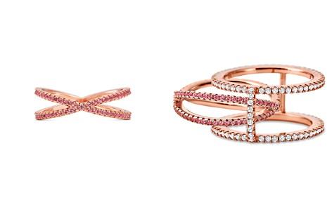 Michael Kors Custom Kors 14K Rose Gold-Plated Sterling Silver Pavé Nesting Ring Insert - Bloomingdale's_2