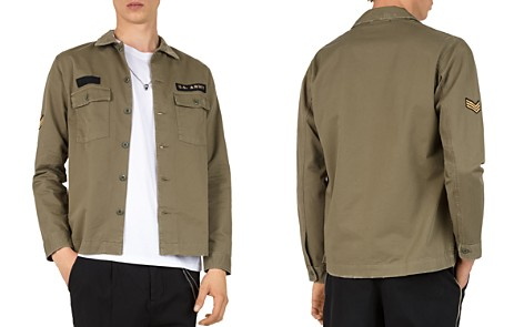 The Kooples Embroidered Regular Fit Army Shirt - Bloomingdale's_2