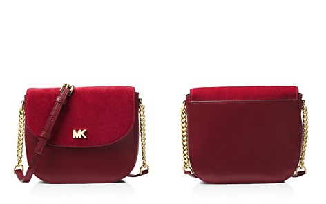 MICHAEL Michael Kors Half Dome Medium Leather & Suede Crossbody - Bloomingdale's_2